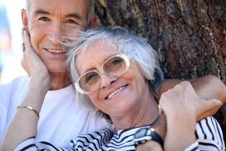 65 70 years: Elderly couple enjoying each other Stock Photo