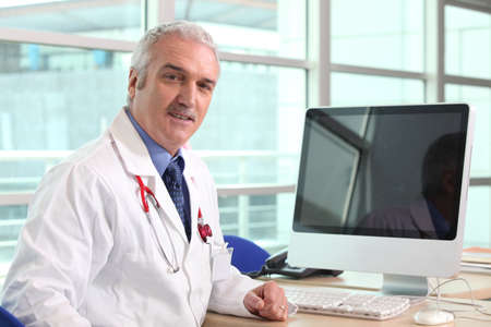 doctor computer: hospital doctor Stock Photo