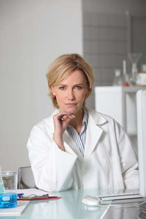 Blond scientist in laboratory Stock Photo - 10746199