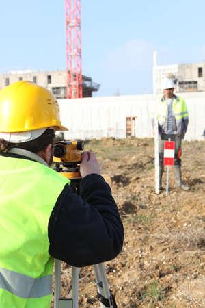 civil engineer: On the spot Stock Photo