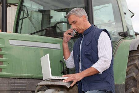 food technology: modern farmer Stock Photo