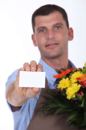 delivery flourist Stock Photo - 10782539