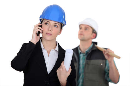 An architect and her foreman. Stock Photo - 10782285
