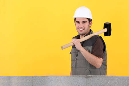 craftsman holding a hammer Stock Photo - 10782841