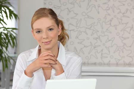 Portrait of a secretary at work photo