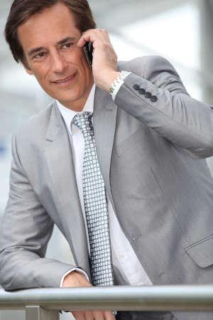 Businessman on mobile phone Stock Photo - 10782567