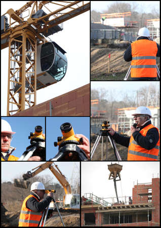 surveying: Construcci�n tem�tica collage