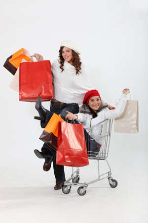girlfriends shopping at the mall Stock Photo - 10783425