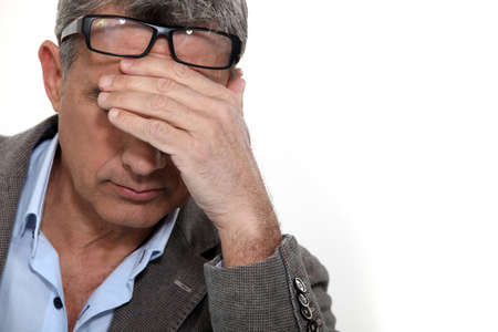 Stressed man Stock Photo - 10782638