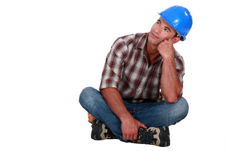Daydreaming builder Stock Photo - 10782557