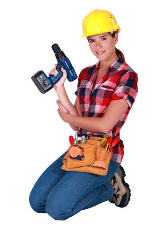Handywoman Stock Photo - 10782664