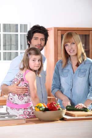 Family in kitchen Stock Photo - 10783584