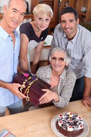 family celebrating mother Stock Photo - 10783689