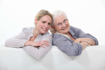 45 to 50 years old: Mother daughter portrait