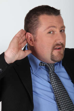businessman listening carefully Stock Photo - 10783673
