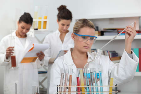 Women working in a scientific laboratory photo