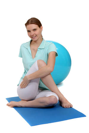 woman doing stretching exercise Stock Photo - 10782283