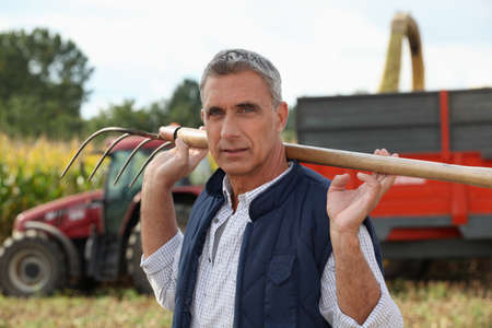 Corn farmer photo