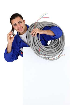 an artisan at phone Stock Photo - 10852364
