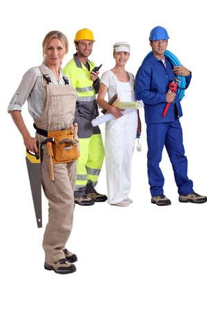overol: Los trabajadores manuales Foto de archivo