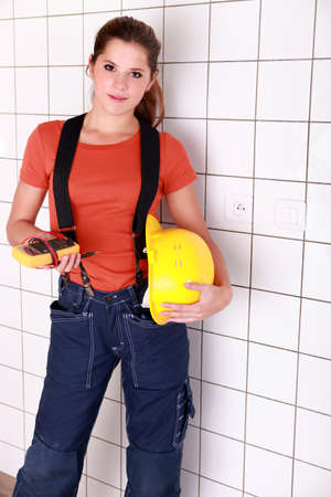 Female electrician. Stock Photo - 10853630