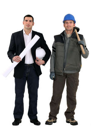 An architect and a foreman Stock Photo - 10852292