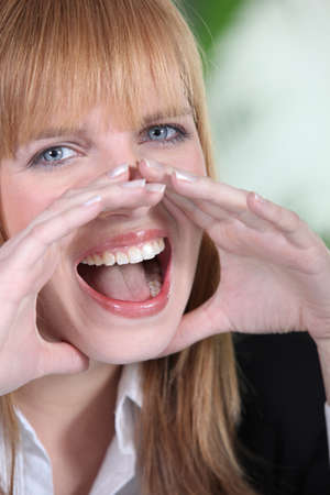 Portrait of a young woman screaming Stock Photo - 10854558