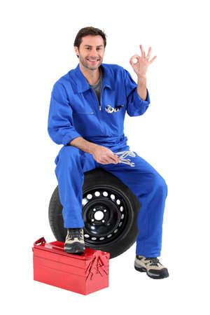 portrait of a mechanic Stock Photo - 10852296