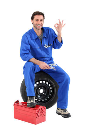 portrait of a mechanic Stock Photo - 10852296