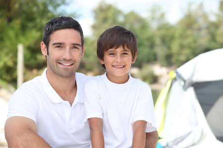 Father and son on a camping trip Stock Photo - 10852991