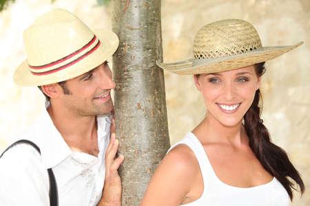 happy couple on vacation photo
