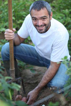 horticulturist: man in his garden