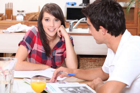 commonplace: Teenagers revising at home