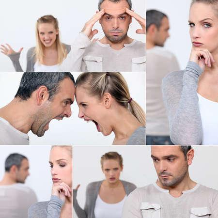 disagreement: Couple arguing