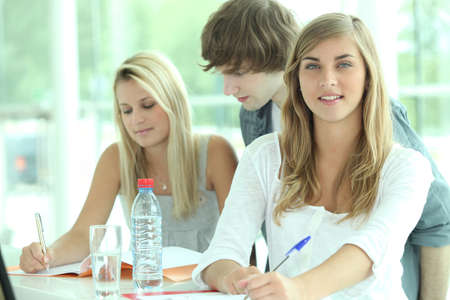 sixth form: Students studying Stock Photo