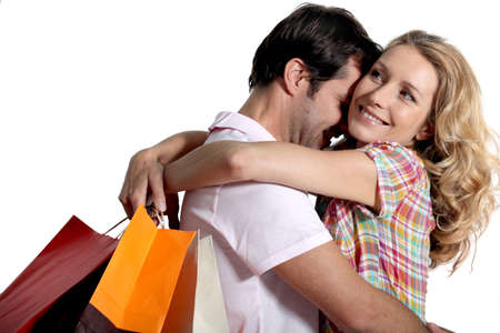 35 39 years: couple with shopping bags