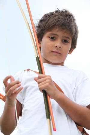 Young boy with bow and arrow Stock Photo - 10852942