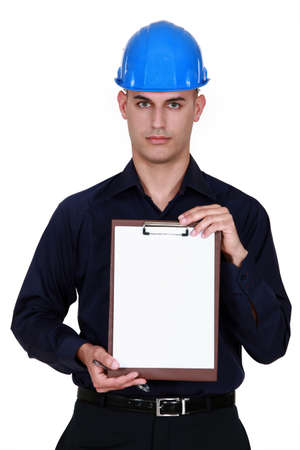 An architect with a clipboard. Stock Photo - 10852076