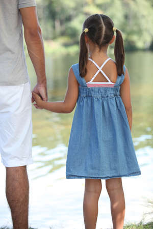 Father and daughter holding hands Stock Photo - 10854989
