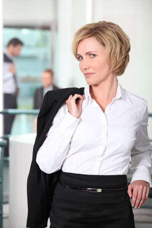 arrogant: Woman with jacket over shoulder