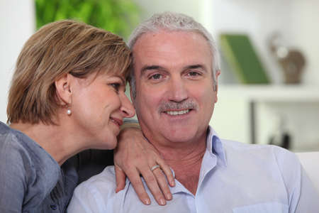adoring: Man with his adoring wife