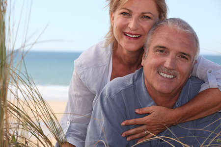 mature couple shining with happiness Stock Photo - 10854941