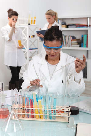 Students in a science lab photo