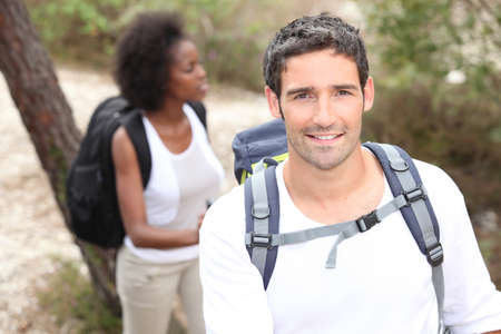 Young couple hiking Stock Photo - 10853610