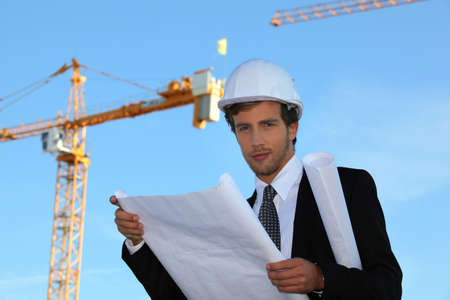 young manager in construction site Stock Photo - 10852388
