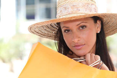 woman with shopping bag Stock Photo - 10853439