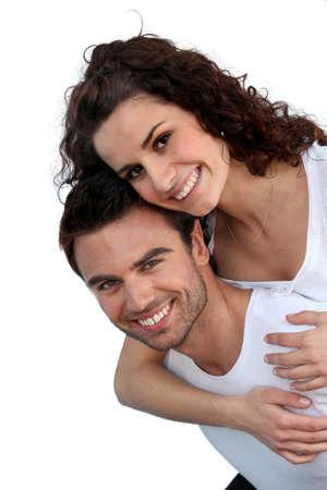 parejas enamoradas: Retrato de una pareja de enamorados Foto de archivo