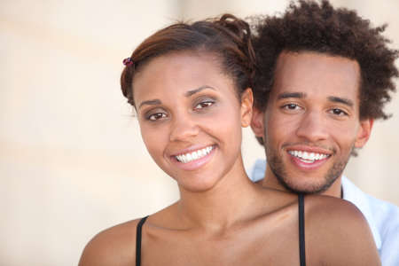 Young smiling couple Stock Photo