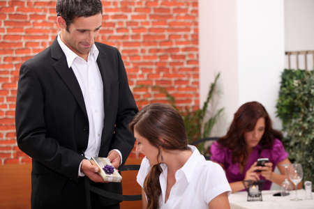 Husband giving wife present Stock Photo - 10852805