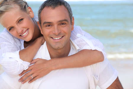 Couple by the sea Stock Photo - 10854511